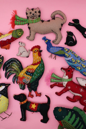 Embroidered Felt Animals