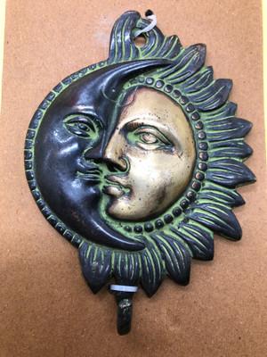 Sun and moon wall hook