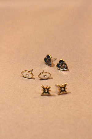 Enamel Charm Earring Set