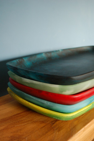 Large Rounded Edge  Resin Tray