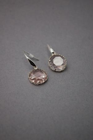 Crystal Circle  Drop Earrings