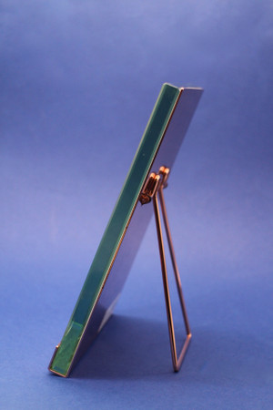 Heavy Copper & Glass Frame