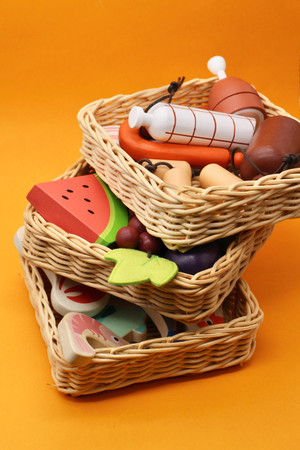Wooden Market Basket Sets