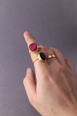 Gold Semi-Precious Stone Ring