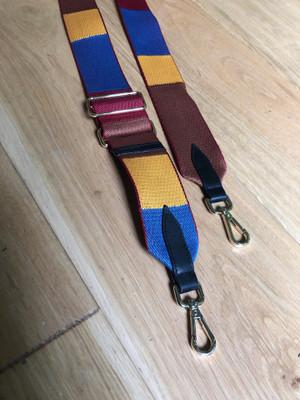 Patterned bag strap - Colour Block Autumn