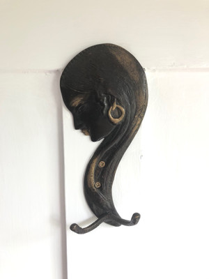 Bronze Lady  Wall Hook