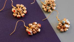 Bead Cluster Earring