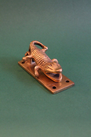 Golden Brass Croc Knocker