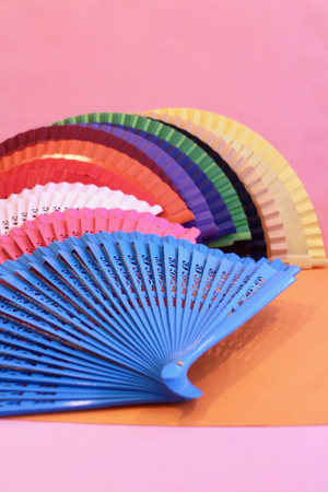 Wooden fans made in Spain