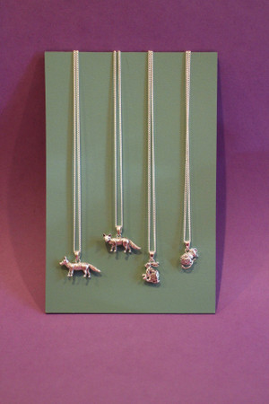 Country Animal Silver Plated Necklace