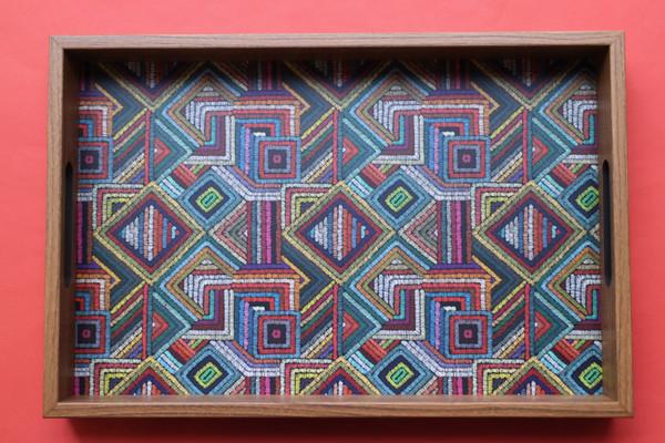 Colourful shapes tray
