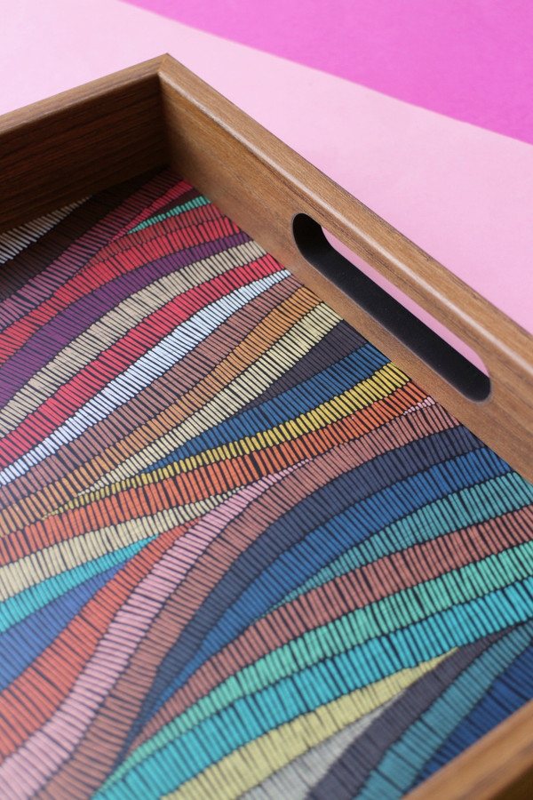 Colourful Waves Tray - Detail