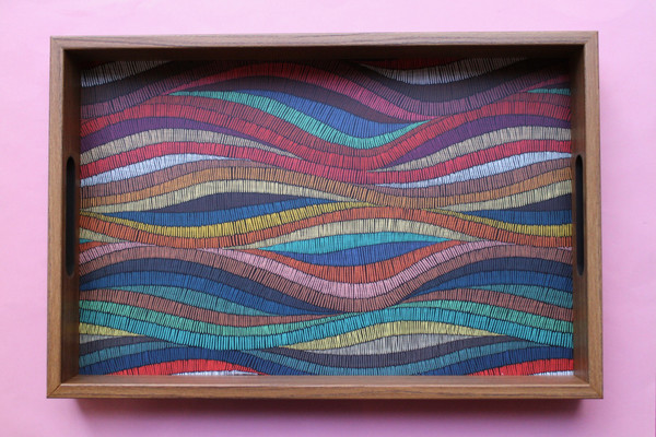 Colourful Waves Tray