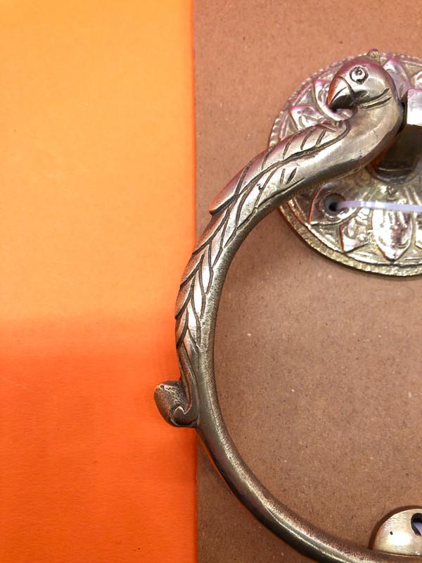 brass peacock ring doorknocker