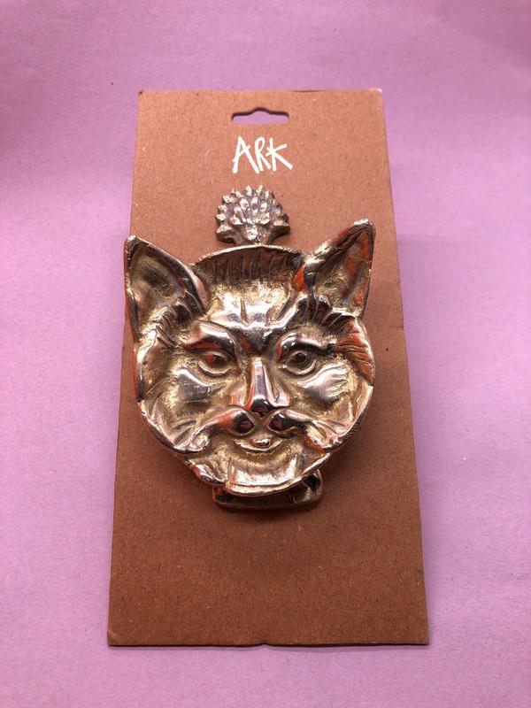 Brass Cat Doorknocker