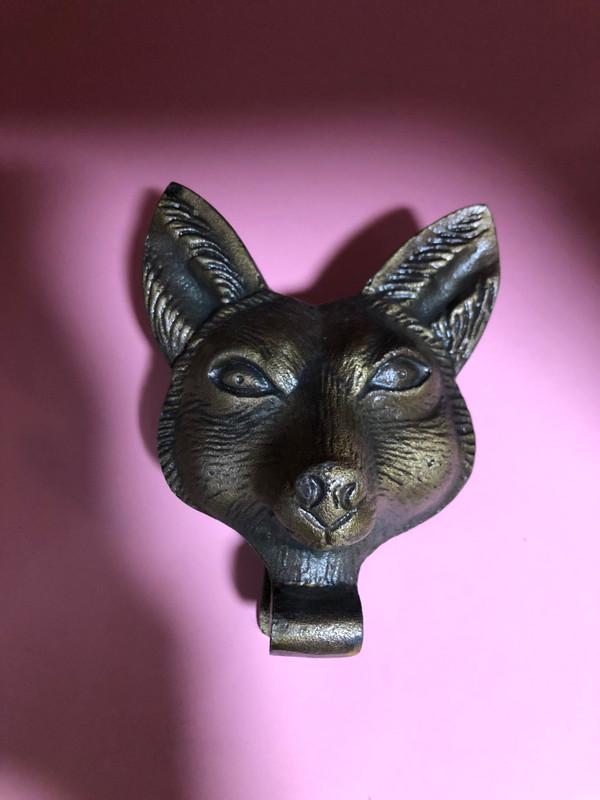 Fox head door knocker
