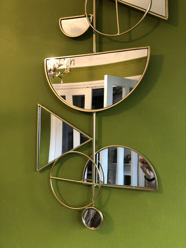 Abstract Mirror Wall Object