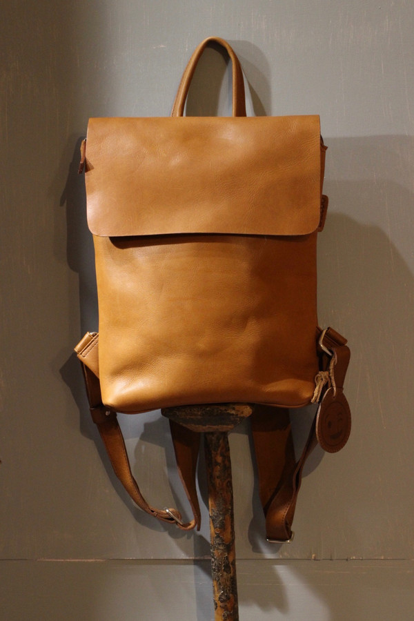 Flap Top Eco Leather Backpacks - S