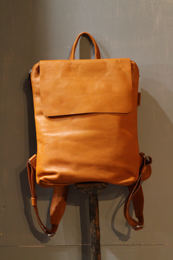 Flap Top Eco Leather Backpacks - L