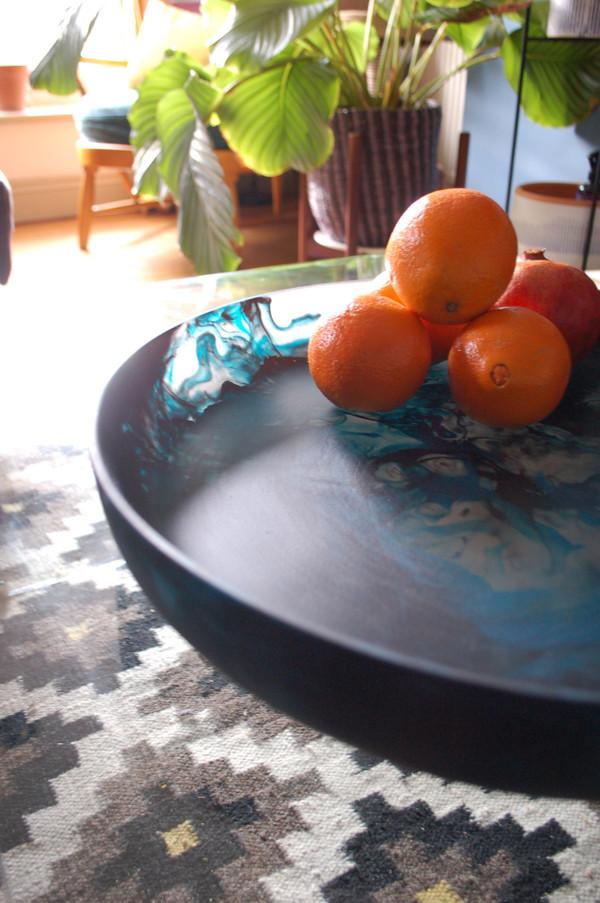 Large Shallow Resin Bowl