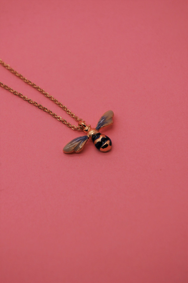 Enamel Bee Necklace