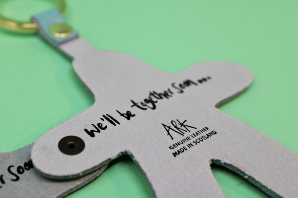 Leather friends keyring
