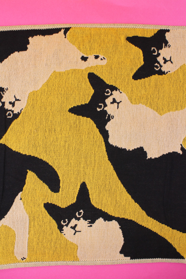 Cat flannel, cat tea towel