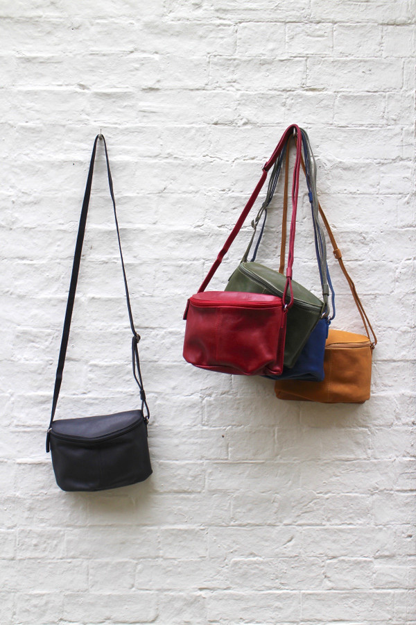 Eco Leather Saddle Bag