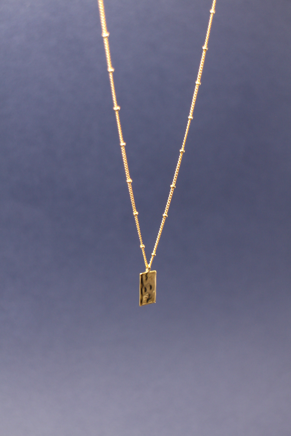 Hammered Tag Pendant