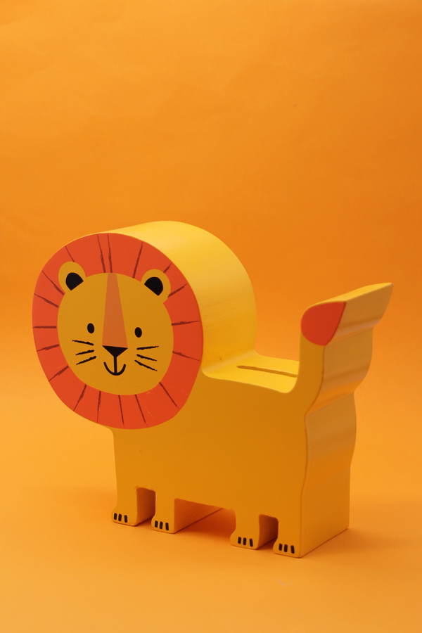 Wooden Lion Money Box - SALE