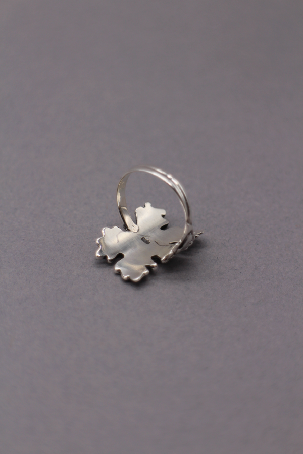Sterling Silver Maple Leaf Ring