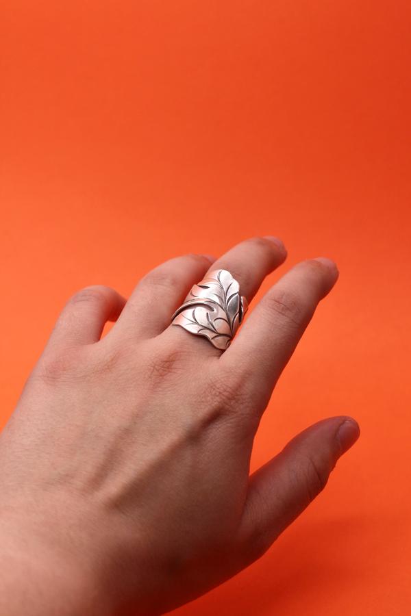 Sterling Silver Leaf Wrap Ring