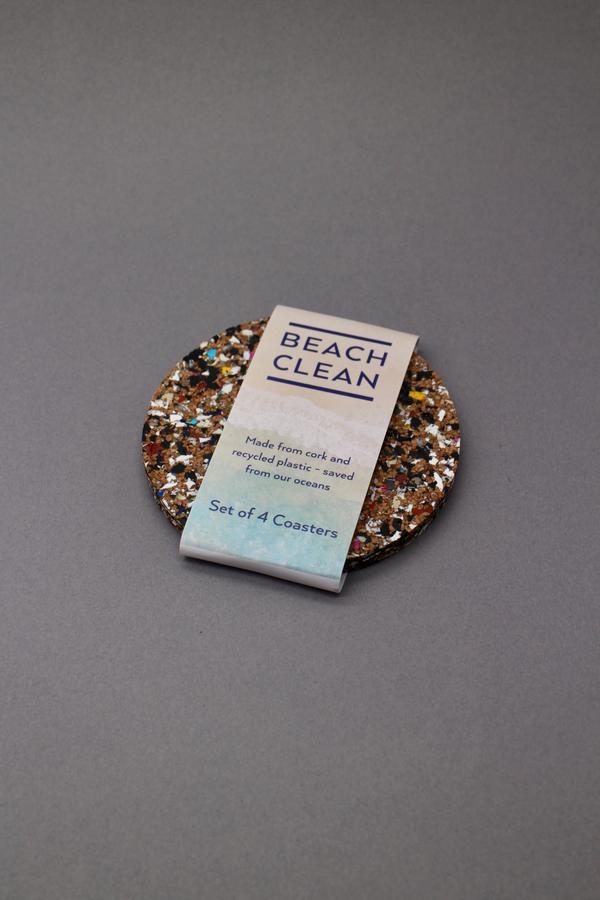 Beach Clean Round Coasters
