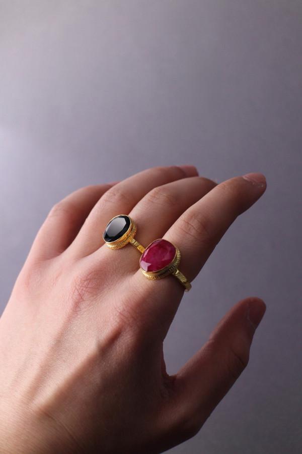 Gold Semi-Precious Stone Ring