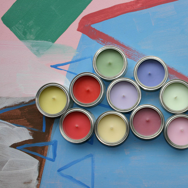Paint Tin Candle