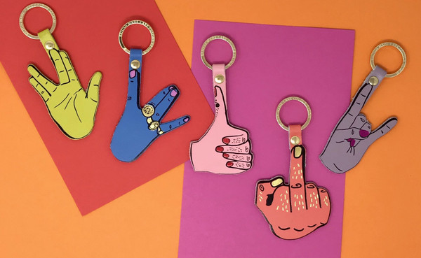 Hand Sign Key Ring