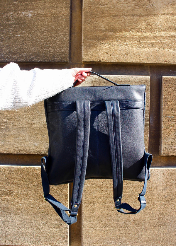 Rucksack back and strap detail