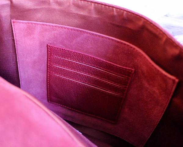 Rucksack inner pocket detail