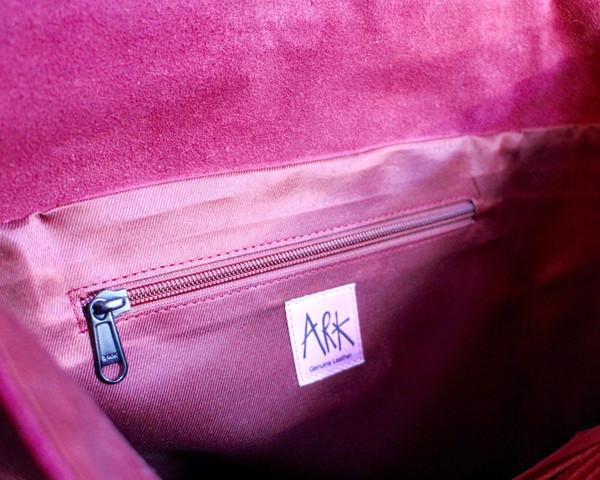 Rucksack inner zipped pocket detail