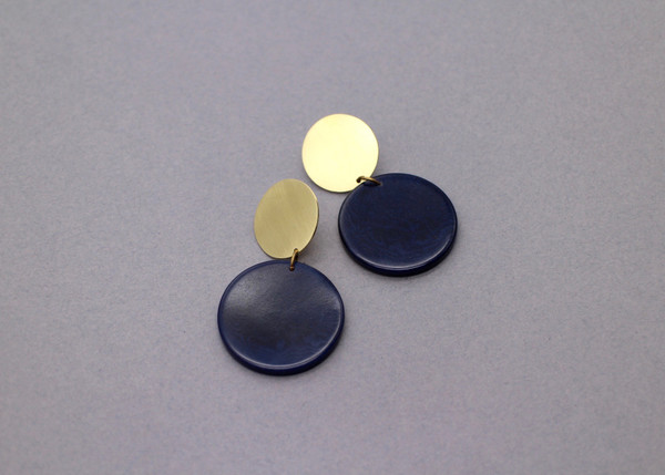 Fair trade tagua and brass studs
