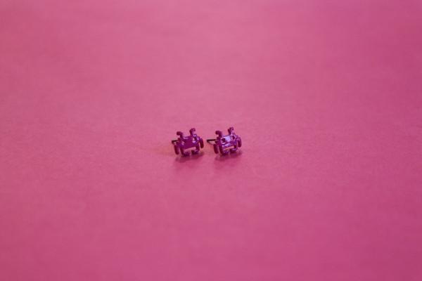 Space Invader Enamel Stud Earrings