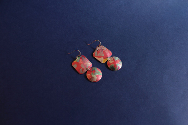 Square and Circle Earring - SALE