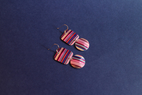 Square and Circle Earring