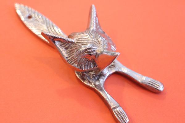 Brass Fox Head Knocker