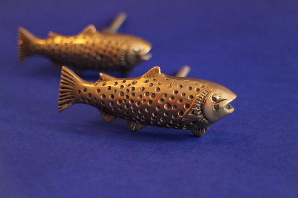 Brass Fish Cabinet Handle