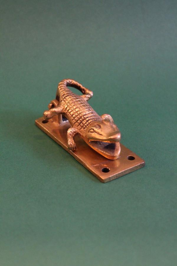 Golden Brass Croc Knocker