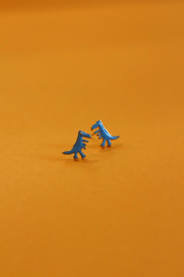 T-Rex Enamel Stud Earring