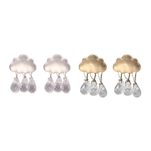 Raindrop Cloud Stud Earring