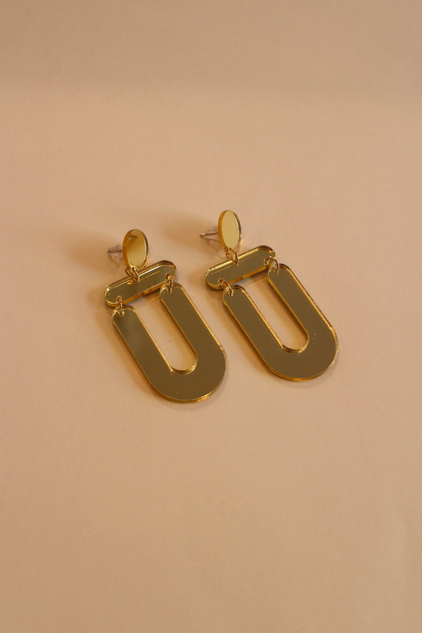 Golden Mirror Earring