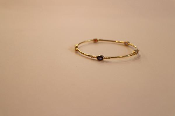 Gold Plated Brass Bead Bangle